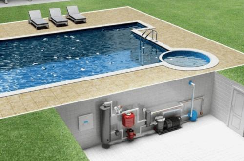 оборудование в бассейн