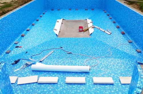отделка чаши бассейна ПВХ