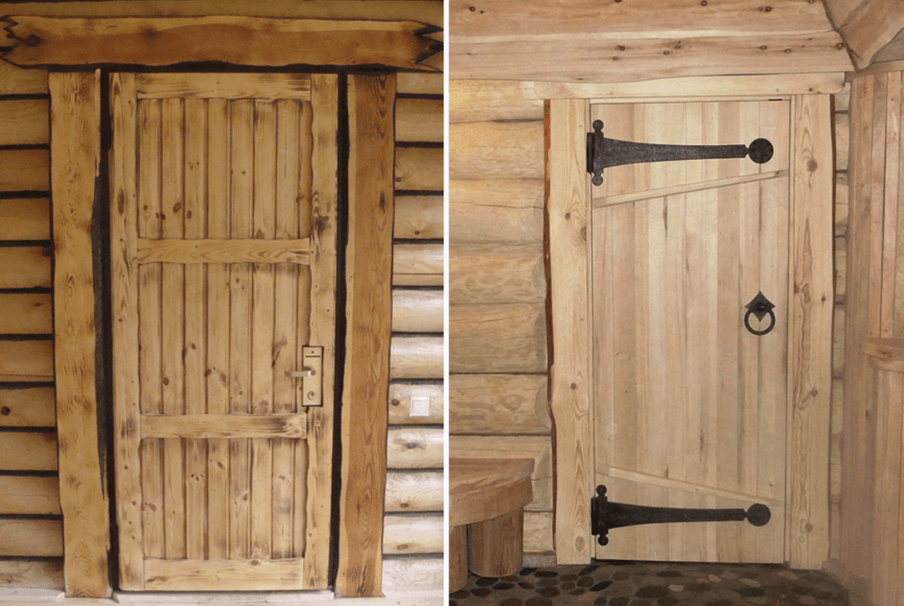 деревянная дверь в баню купить