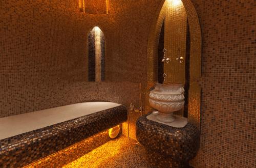 строительный этап турецкой бани