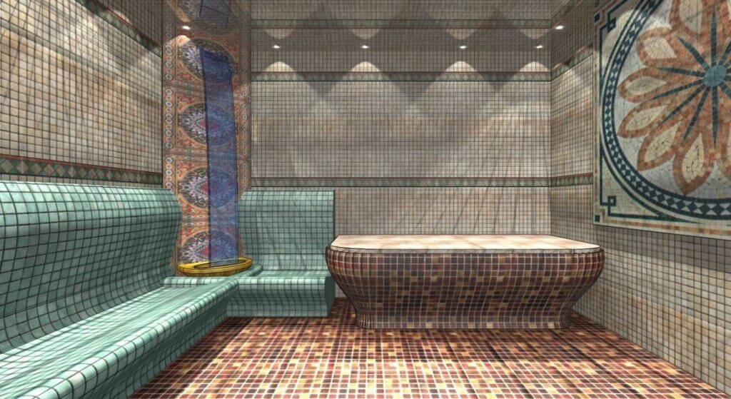 виды лежаков турецкой бани
